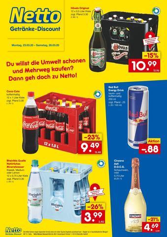 Netto Getränke Discount Prospekt (bis einschl. 28-03)