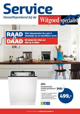 Witgoed specialist reclame folder (geldig t/m 05-04)