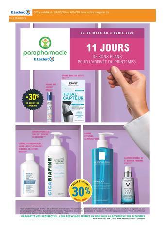 E.Leclerc Parapharmacie catalogue publicitaire (valable jusqu'au 04-04)
