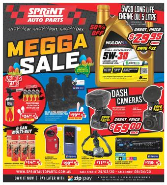 Sprint Auto Parts catalogue (valid until 09-04)