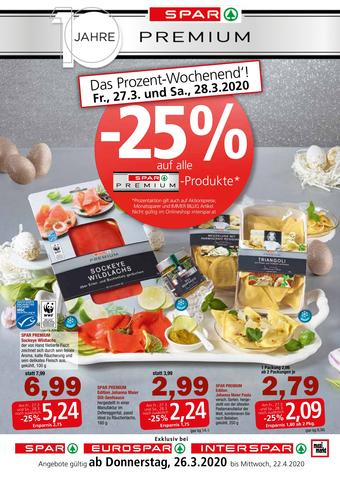 Spar Werbeflugblatt (bis einschl. 22-04)