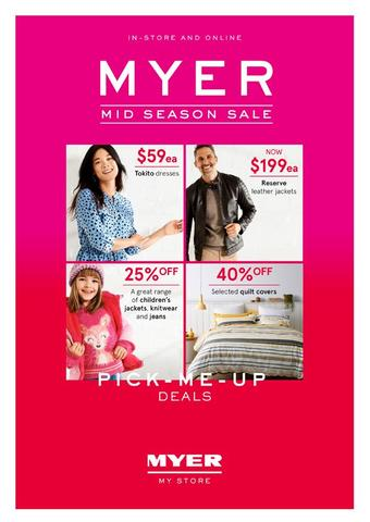 Myer catalogue (valid until 05-04)