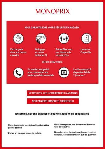 Monoprix catalogue publicitaire (valable jusqu'au 15-04)