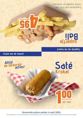 One 2 Eat reclame folder (geldig t/m 30-04)