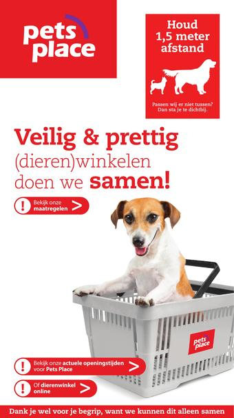 Pets Place reclame folder (geldig t/m 19-04)
