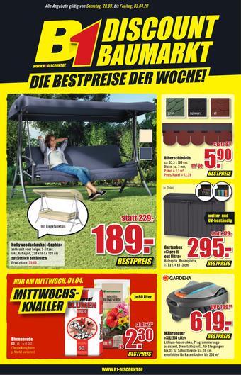B1 Discount Baumarkt Prospekt (bis einschl. 03-04)