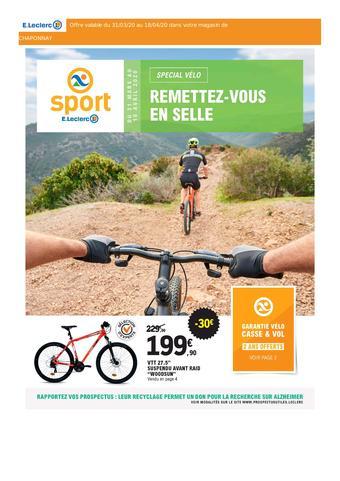 E.Leclerc Sports catalogue publicitaire (valable jusqu'au 18-04)