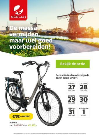 Stella fietsen reclame folder (geldig t/m 01-04)