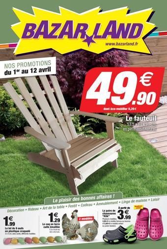 Bazarland catalogue publicitaire (valable jusqu'au 12-04)