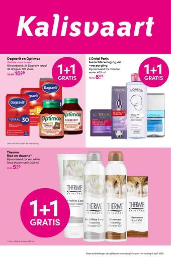 Kalisvaart Drogisterij Beautystore reclame folder (geldig t/m 12-04)