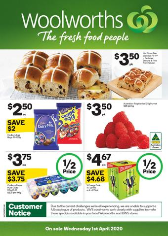 Woolworths catalogue (valid until 07-04)