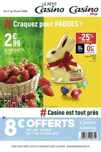 Petit Casino catalogue publicitaire (valable jusqu'au 13-04)