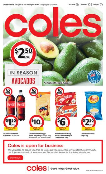 Coles catalogue (valid until 07-04)