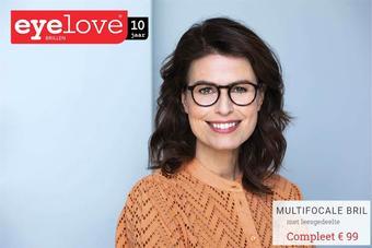 Eyelove brillen reclame folder (geldig t/m 21-04)