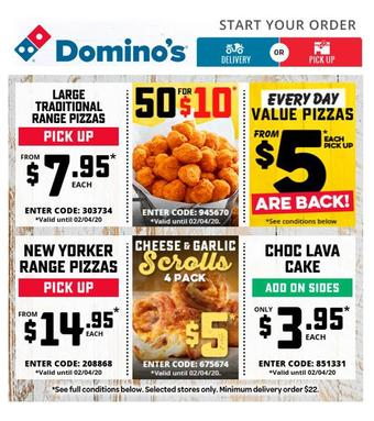 Domino's Pizza catalogue (valid until 02-04)