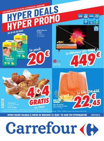 Hyper Carrefour reclame folder (geldig t/m 06-04)