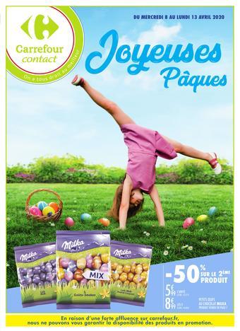 Carrefour Contact catalogue publicitaire (valable jusqu'au 13-04)