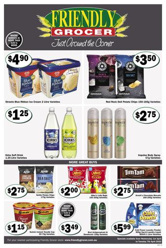Friendly Grocer catalogue (valid until 07-04)