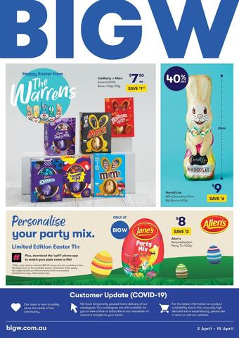 BIG W catalogue (valid until 15-04)