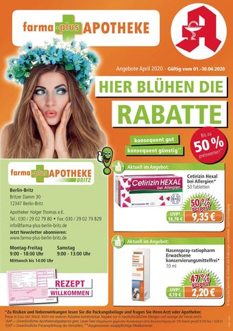 farma-plus Apotheken Prospekt (bis einschl. 30-04)
