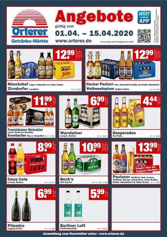 Orterer Getränkemarkt Prospekt (bis einschl. 15-04)