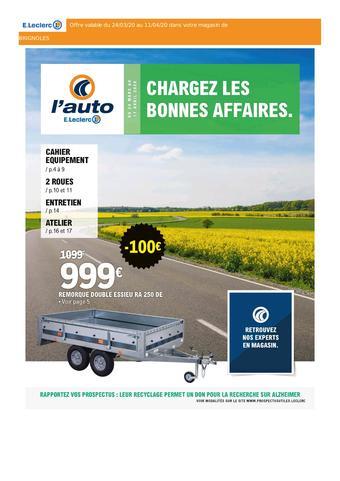 E.Leclerc L'Auto catalogue publicitaire (valable jusqu'au 11-04)