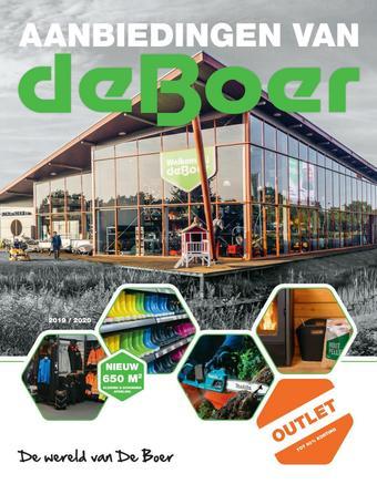 De Boer Drachten reclame folder (geldig t/m 30-04)
