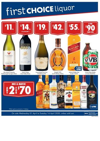 First Choice Liquor catalogue (valid until 14-04)