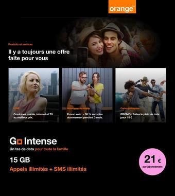 Orange reclame folder (geldig t/m 30-04)