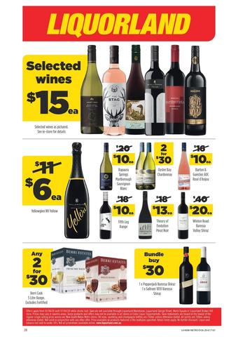 Liquorland catalogue (valid until 07-04)