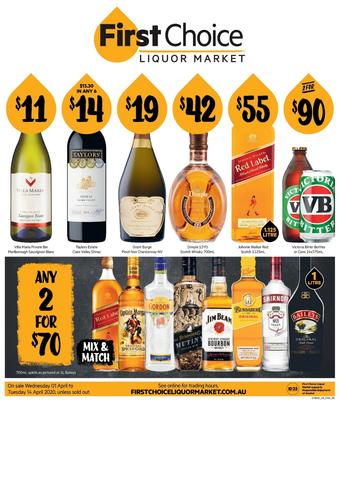 First Choice Liquor Market catalogue (valid until 14-04)