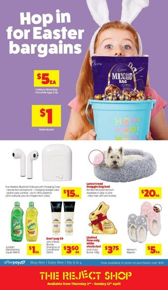 The Reject Shop catalogue (valid until 12-04)