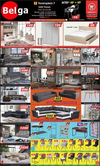 Belga Meubelen reclame folder (geldig t/m 30-04)