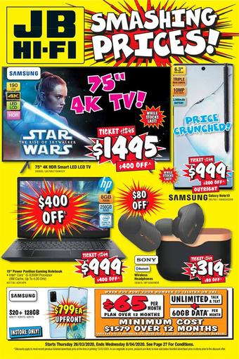 JB Hi-Fi catalogue (valid until 08-04)