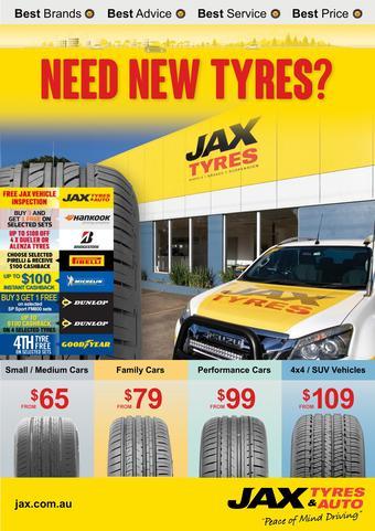 Jax Tyres catalogue (valid until 30-04)