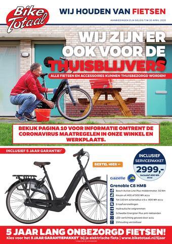 Bike Totaal reclame folder (geldig t/m 30-04)