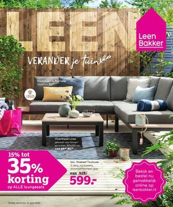 Leen Bakker reclame folder (geldig t/m 26-04)