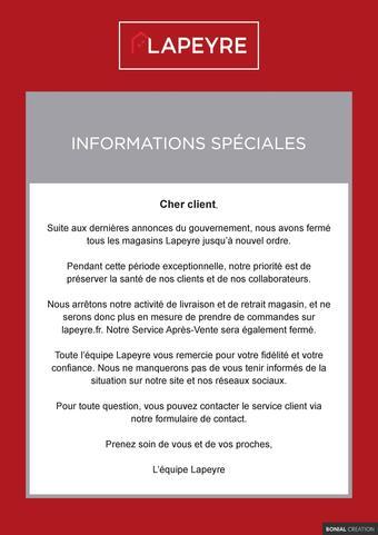 Lapeyre catalogue publicitaire (valable jusqu'au 30-04)