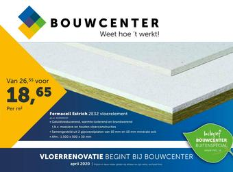 Bouwcenter reclame folder (geldig t/m 30-04)