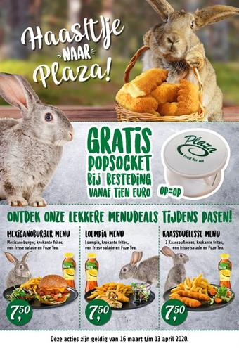 Plaza Food For All reclame folder (geldig t/m 13-04)