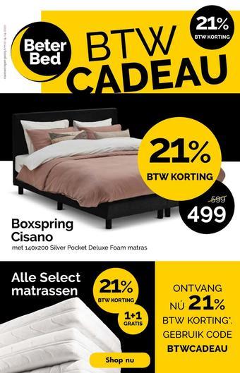 Beter Bed reclame folder (geldig t/m 14-04)