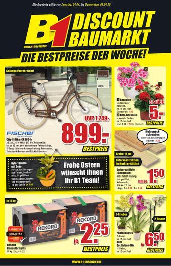 B1 Discount Baumarkt Prospekt (bis einschl. 09-04)