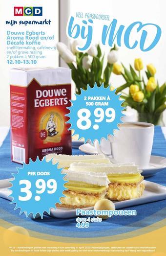 MCD Supermarkt reclame folder (geldig t/m 11-04)