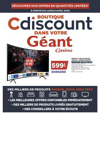 Cdiscount catalogue publicitaire (valable jusqu'au 12-04)