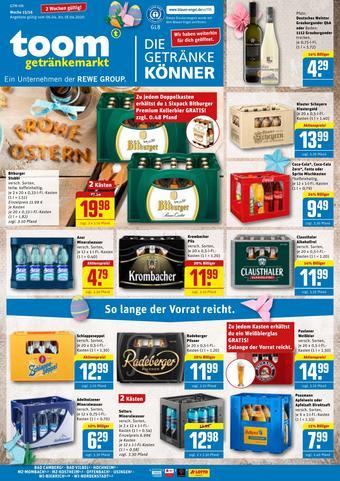 toom Getränkemarkt Prospekt (bis einschl. 18-04)