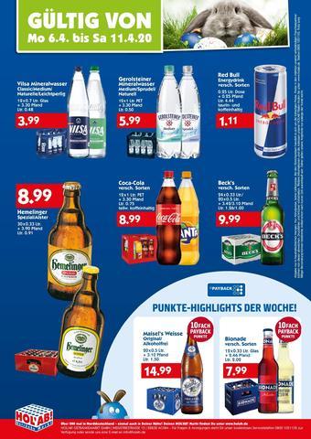 Hol'ab Getränkemarkt Prospekt (bis einschl. 11-04)