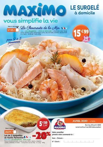 Maximo catalogue publicitaire (valable jusqu'au 30-04)