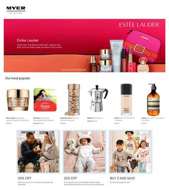 Myer catalogue (valid until 30-04)