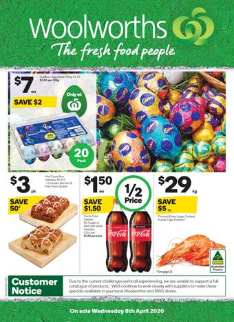 Woolworths catalogue (valid until 14-04)