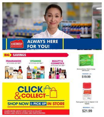 Chemist Warehouse catalogue (valid until 30-04)